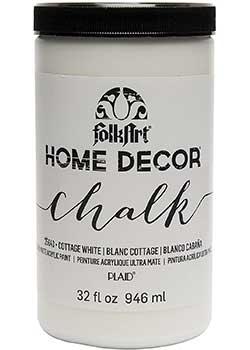 FolkArt Home Decor Chalk Furniture & Craft White Paint for Bookshelves