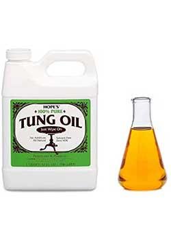 HOPE'S 100% Pure Tung Oil Waterproof Wood Finish