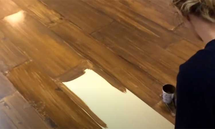How To Paint Concrete Floors to Look Like Wood